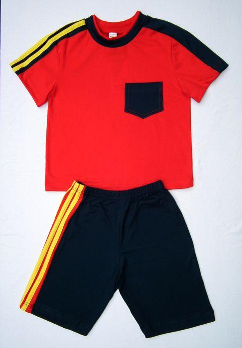 Комплект для мальчика красный с черным