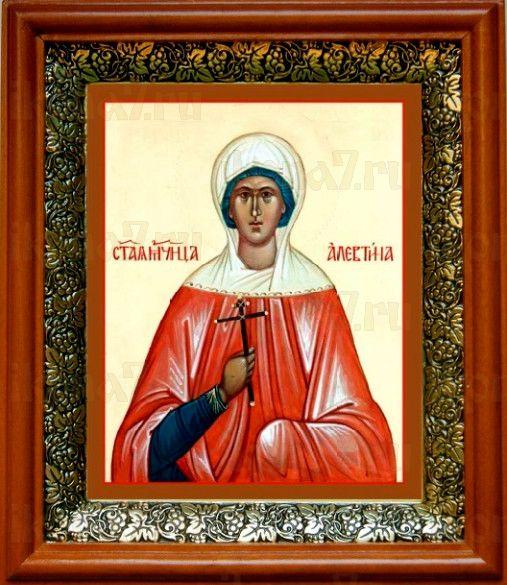 Алевтина Кесарийская (19х22), светлый киот