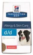 Hill's PD Canine d/d Allergy & Skin Care Salmon and Rice Диетический корм с лососем и рисом при аллергии (2 кг)