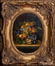 Натюрморт с фруктами, масло, Европа, пер. пол. 20 в., артикул 01933