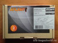 Багажник на крышу Toyota Auris, Атлант: прямоугольные дуги и опоры типа Е