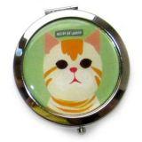 Оригинальное карманное зеркало двойное с котом