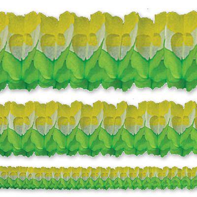 Гирлянда Декор 36м зелено-бело-желтая