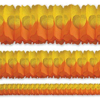 Гирлянда Декор 36м оранжево-желтая