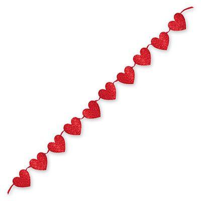 Гирлянда Сердца блеск, 365 см