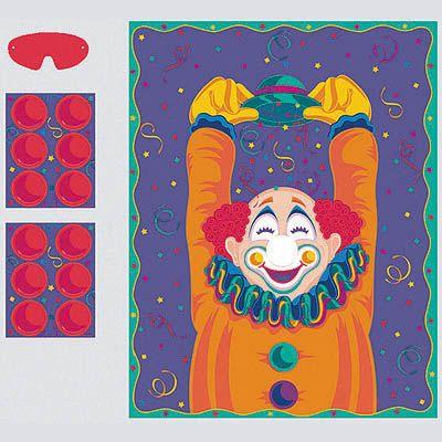 Игра с наклейками Веселый Клоун
