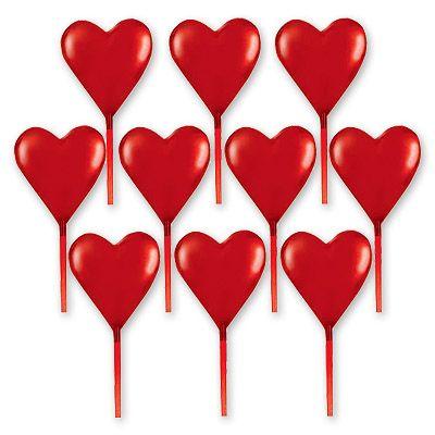 Пика для канапе Сердце, 7,6 см, 10 шт.