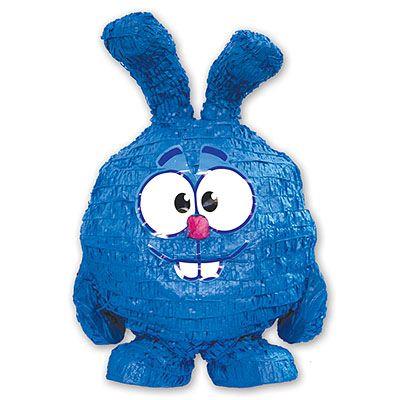 Пиньята Смешарики: надувной шарик Крош с лентами