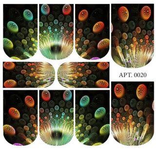 Слайдер-дизайн для ногтей № 0020