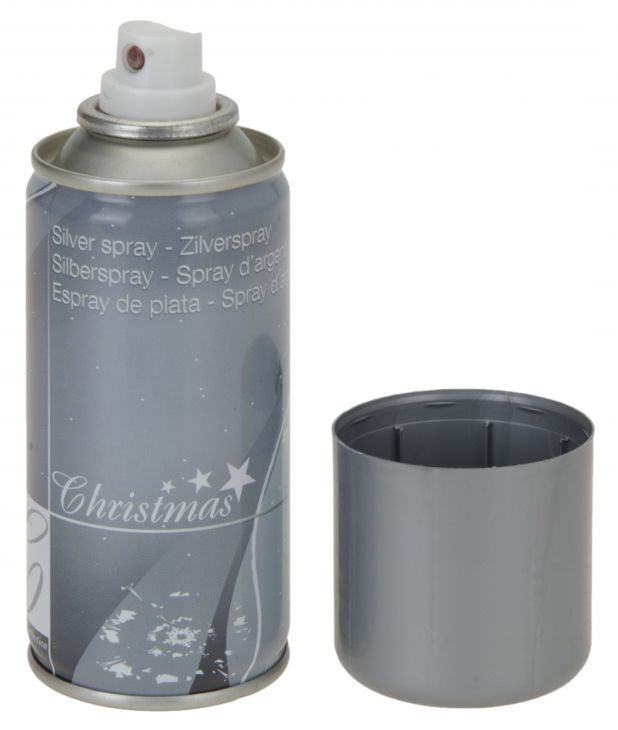 Silver spray Christmas