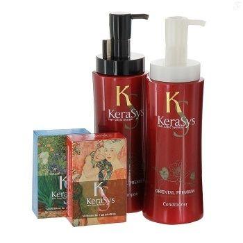 Подарочный набор Ориентал №1 KeraSys (шамп 470гр + конд 470гр + мыло 2шт + подарочная коробка)