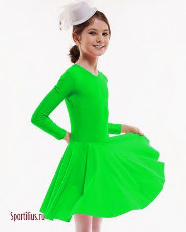 тренировочное платье салатовое для бальных танцев
