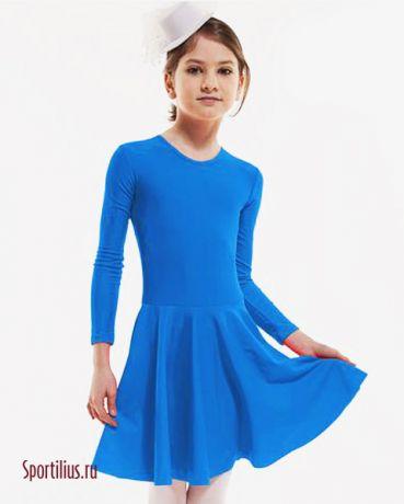 Тренировочное платье для танцев, голубое