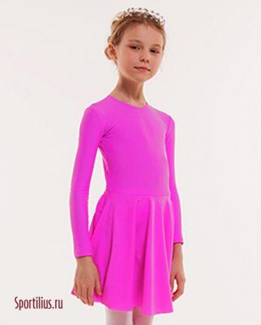 тренировочное платье для бальных танцев розовое
