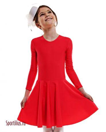 красное платье для бальных танцев