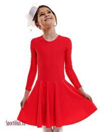 Тренировочное платье для бальных танцев красное