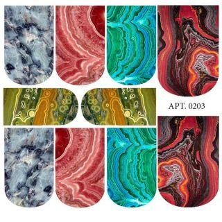 Слайдер-дизайн для ногтей № 0203