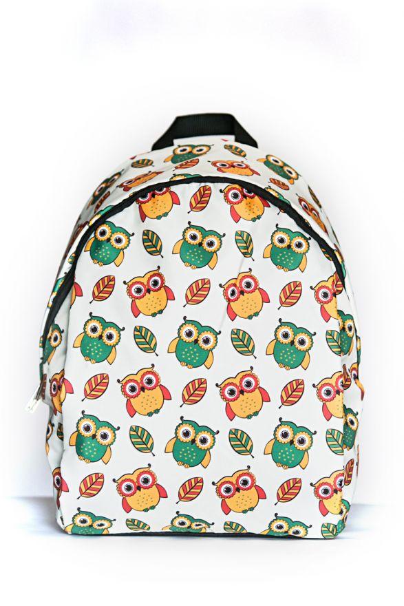 Рюкзак ПодЪполье Green and yellow owls