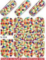 Слайдер-дизайн  N554 (водные наклейки)