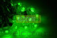 """Готовый набор: Гирлянда """"LED Galaxy Bulb String"""", 30 ламп, 10 м, в лампе 6 LED, цвет зеленый, провод черный каучуковый, влагостойкая IP54"""