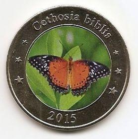 Набор Бабочки 1 доллар Западные Малые Зондские Острова 2015 (2 монеты)