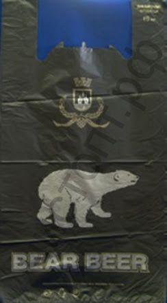 Пакет-майка Медведь 32+18*60  (в упак.100)