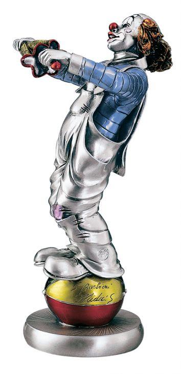 Серебряная коллекционная фигурка клоуна-эквилибриста (Италия)