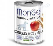 Monge Dog Monoproteico Fruits Паштет для собак из кролика с рисом и яблоками (400 г)