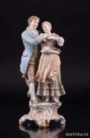 Романтическая пара, E & A Muller, Германия, кон. 19, нач. 20 в