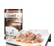 Gourmet A la Carte - С лососем a la Florentine со шпинатом, цуккини и зеленой фасолью (85 г)