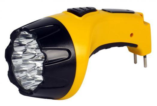 Аккумуляторный светодиодный фонарь 15 LED с прямой зарядкой Smartbuy