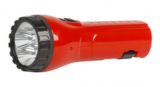 Аккумуляторный светодиодный фонарь 4 LED с прямой зарядкой Smartbuy, красный
