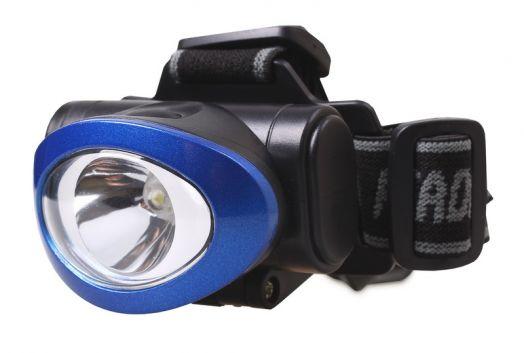 Светодиодный налобный фонарь 1 Вт Smartbuy, синий
