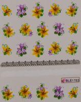 Водная наклейка для дизайна ногтей BLE-1783