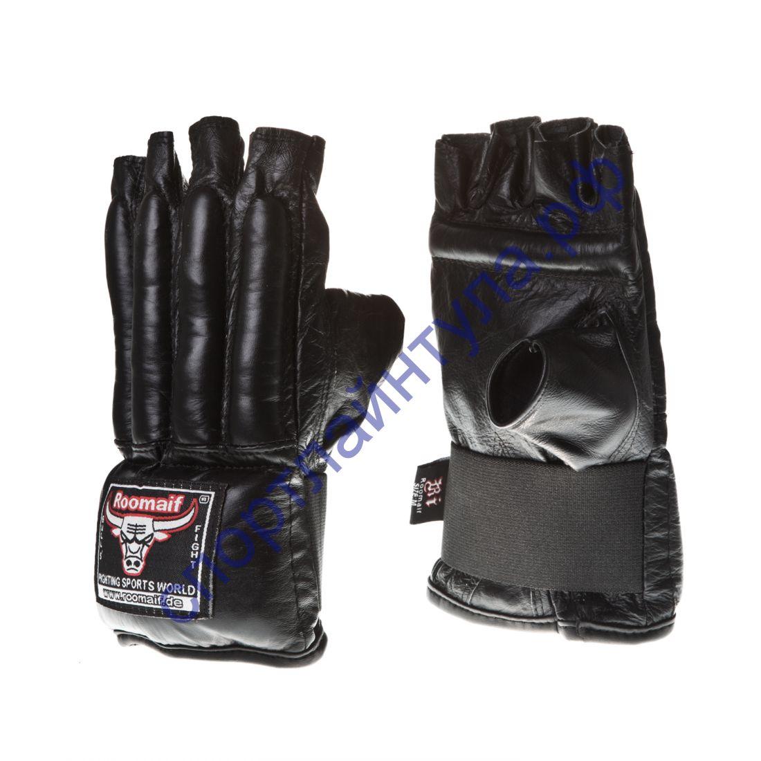 Снарядные перчатки RBM-128 Коровья кожа Black