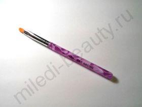 Кисть арочная (искусственная) с розовой ручкой