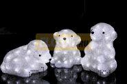 """Акриловая светодиодная фигура """"Медвежата"""" 3 шт, 20 см, 60 светодиодов, IP 23, понижающий трансформатор в комплекте, NEON-NIGHT"""