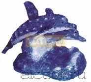 """Акриловая светодиодная фигура """"Синие дельфины"""" 65х48х48 см,136 светодиодов, IP44 понижающий трансформатор в комплекте, NEON-NIGHT"""