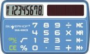 "Калькулятор ""SILWERHOF CARD SIZE"" карманный,8 разр.синий SHA-400CB (601010-02)"