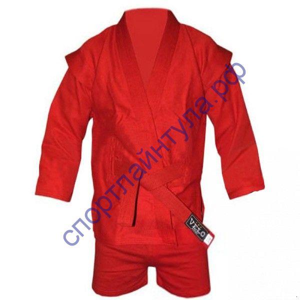 Кимоно для самбо с шортами Красное