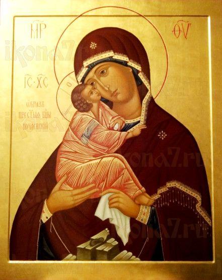Почаевская икона БМ (рукописная икона)