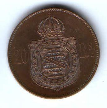 20 рейс 1869 г. AUNC Бразилия