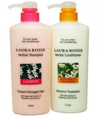 Шампунь для сухих и ослабленных волос Laura Rosse.