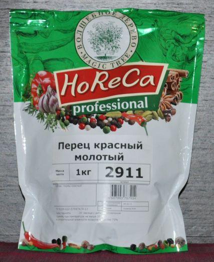 HORECA ПАКЕТ 1 КГ ПЕРЕЦ КРАСНЫЙ МОЛОТЫЙ