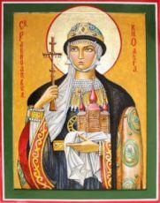 Ольга, княгиня (рукописная икона)