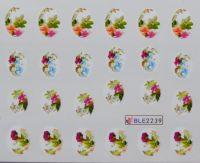 Водная наклейка для дизайна ногтей BLE-2239