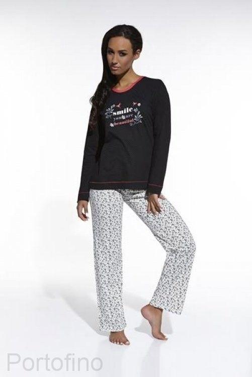 39072ae03a32c 655/17 женская пижама с длинным рукавом и брюками Cornette. Купить ...