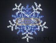 """Фигура световая """"Снежинка"""" цвет белая/синяя, размер 60*60 см, с контролером NEON-NIGHT"""