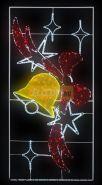 """Фигура световая """"Колокольчик с бантом"""", 320 светодиодов 32м дюралайта, размер 260*125 NEON-NIGHT"""