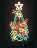 """Фигура """"Праздничная Ель с кометами"""", размер 100*77 см NEON-NIGHT"""